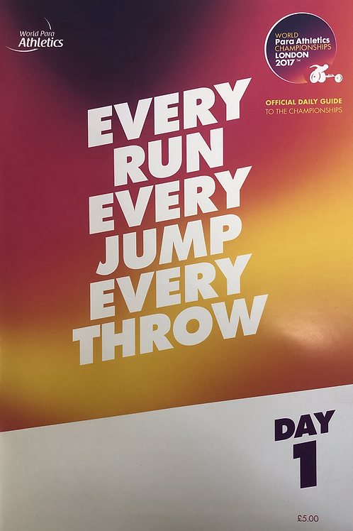 IAAF World Para Athletics Championships London 2017 Daily Guide