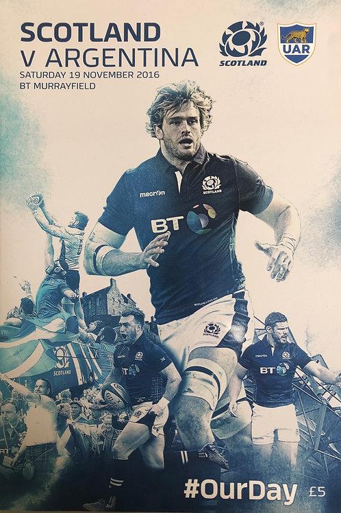 Scotland v Argentina 19.11.2016