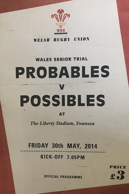 WRU Probables v Possibles