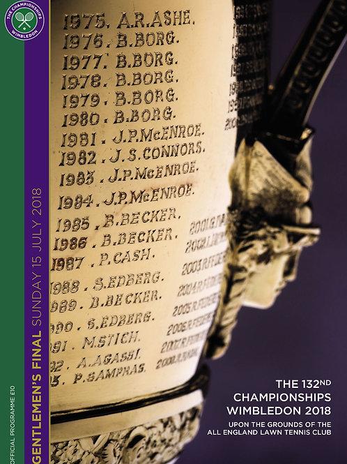 Wimbledon 2018 Ladies' Final -  Official Programme