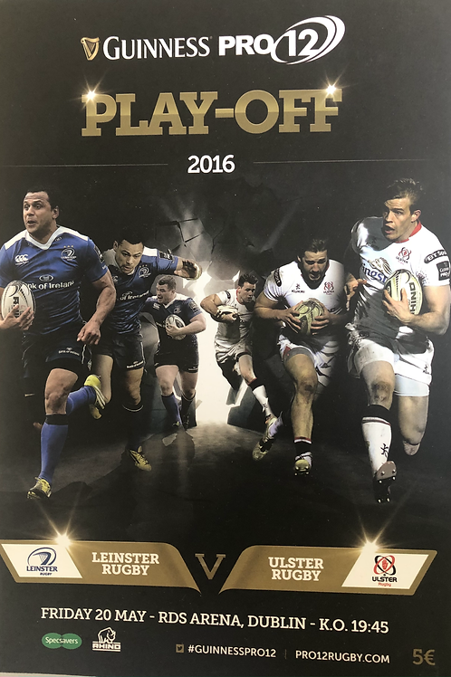 Guinness Pro 12 Play Off 2016