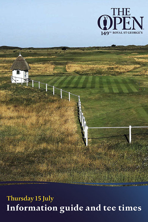 The complete set of official 149th Open Championship daily information guides