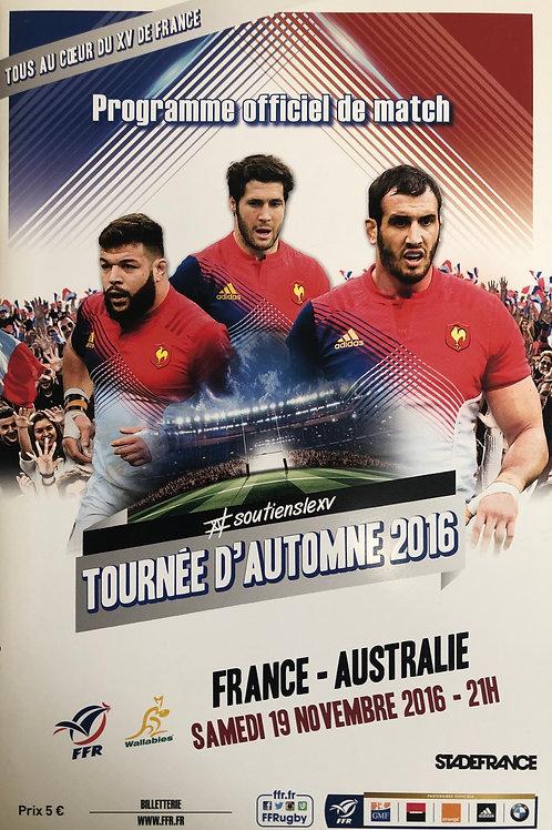 France v Samoa 12.11.2016