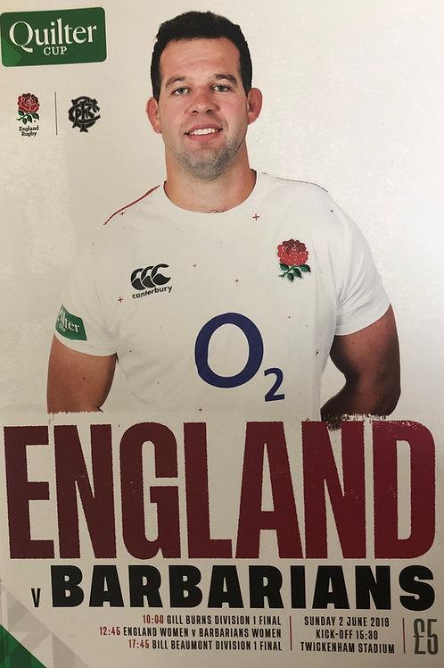England v Barbarians 02.06.2019