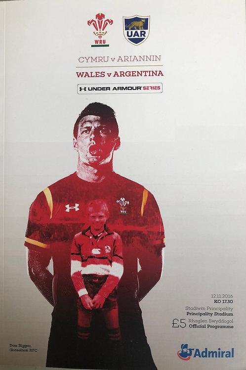 Wales v Argentina 12.11.2016