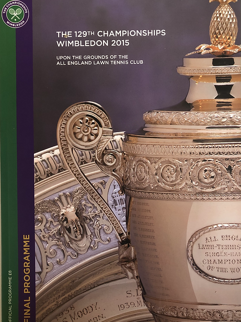 Wimbledon 2015 Final Programme