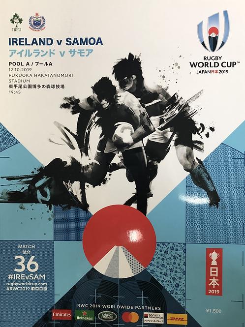 Rugby World Cup 2019 - Ireland v Samoa