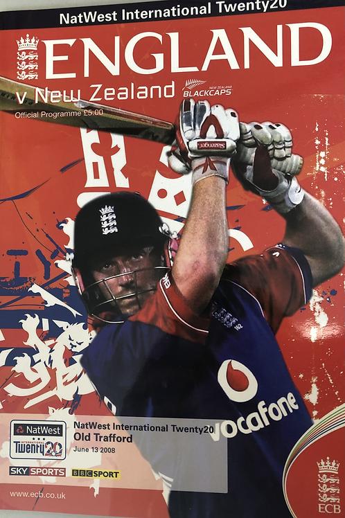 England v New Zealand T20 2008