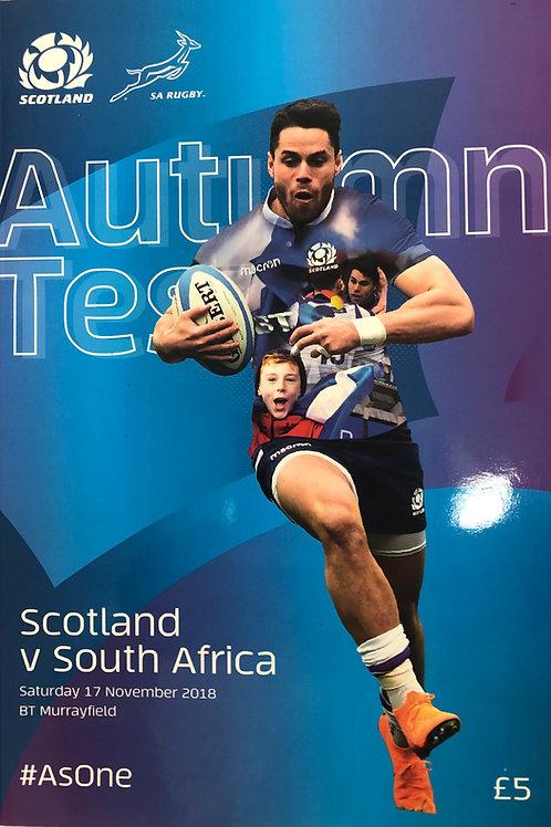 Scotland v South Africa 17.11.2018