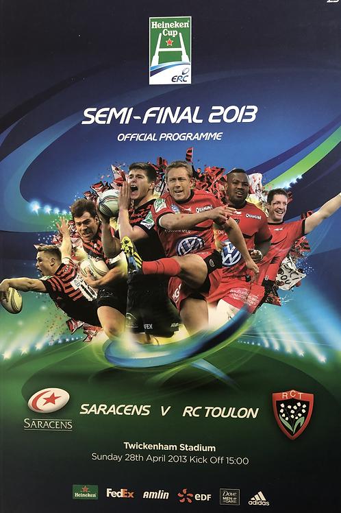 Heineken Cup Semi Final 2013