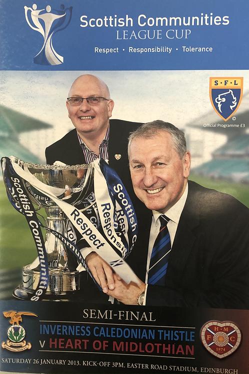 Scottish Communities League Cup Semi Final 2013