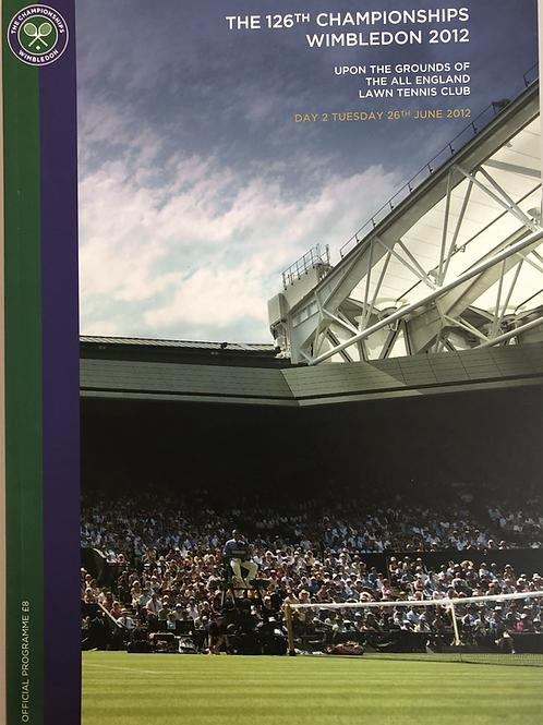 Wimbledon 2012 Day 2 Official Programme