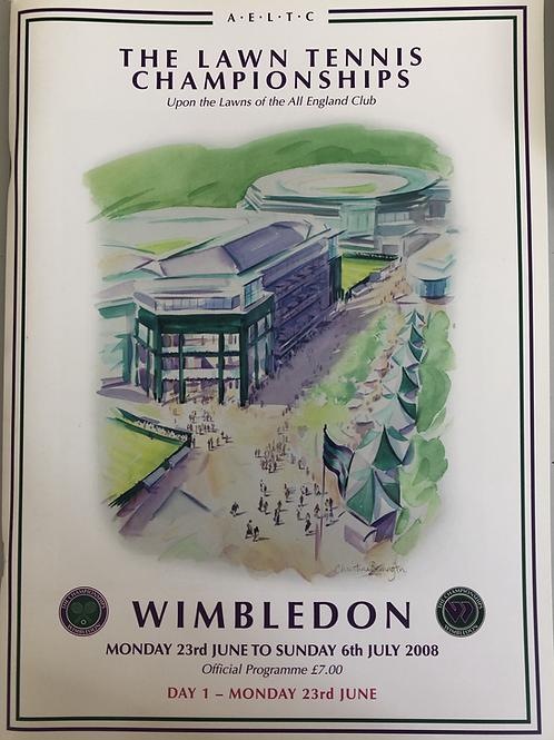 Wimbledon 2008 Day 1 Official Programme
