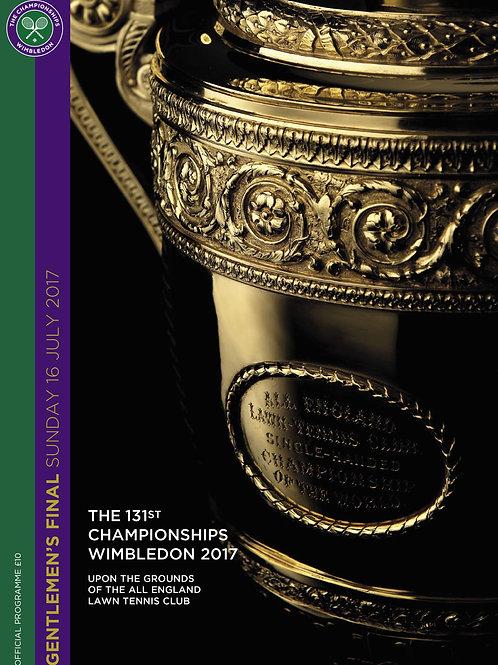 Wimbledon 2017 Gentlemen's Final Official Programme