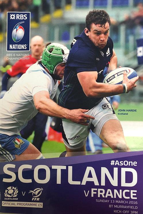 Scotland v France 13.03.2016