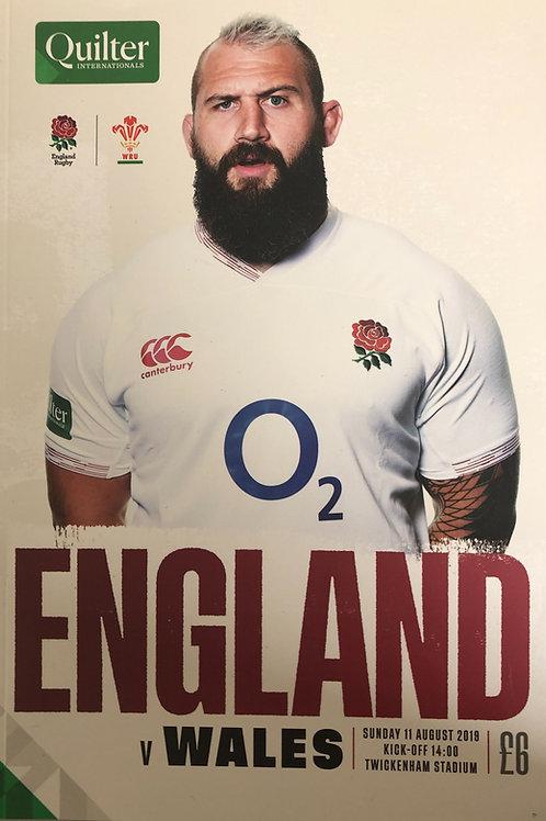 England v Wales 11.08.2019