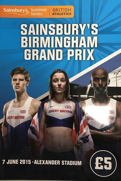 Sainsbury's Birmingham Grand Prix 2015