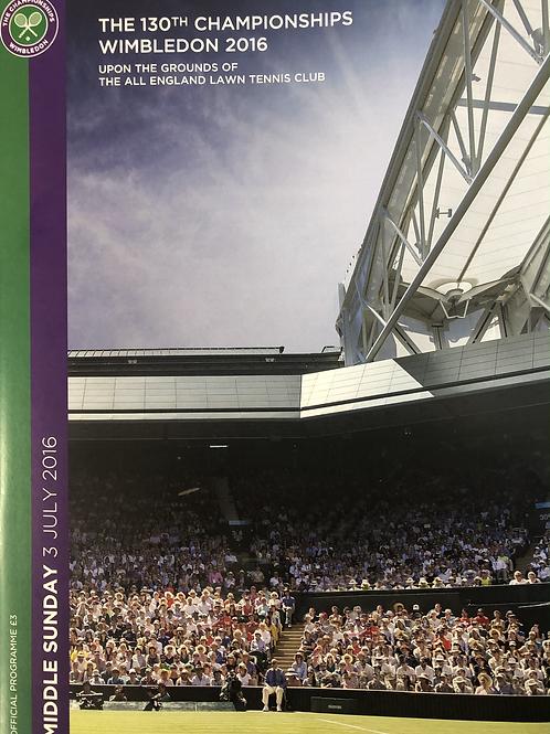 Wimbledon 2016 Middle Sunday Official Programme