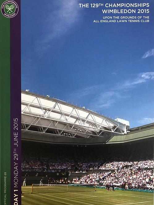 Wimbledon 2015 Day 1 Official Programme