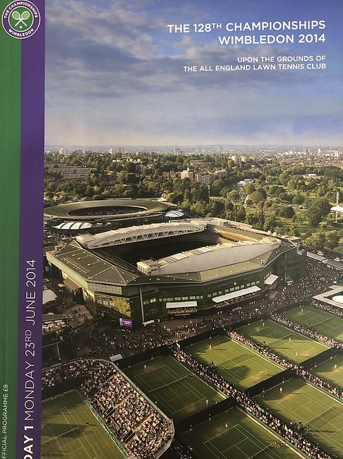 Wimbledon 2014 Day 1 Official Programme