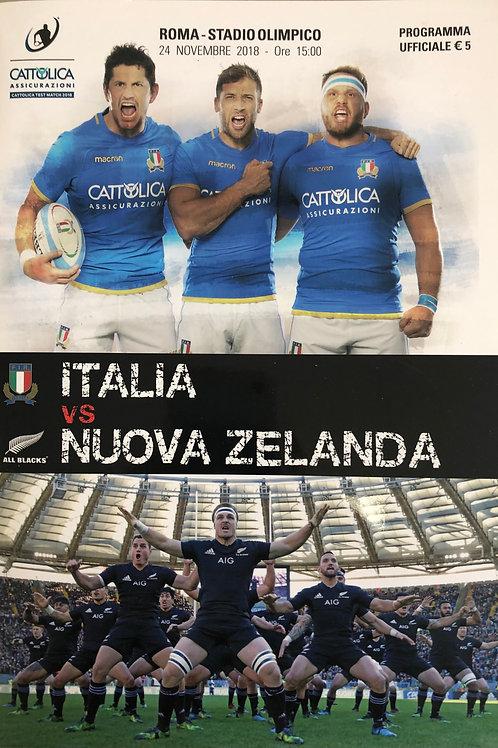 Italy v New Zealand 24.11.2018