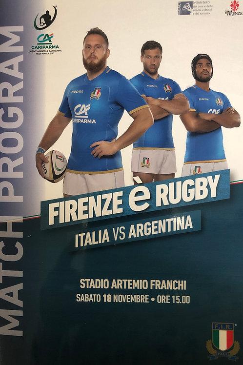 Italy v Argentina 18.11.2017