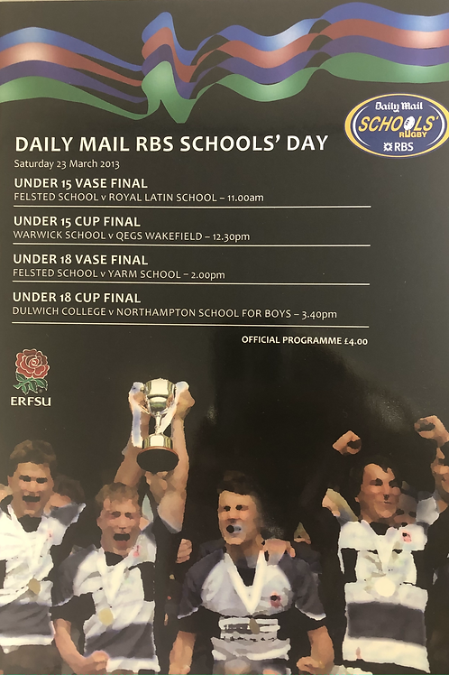 Daily Mail Schools Rugby 2013