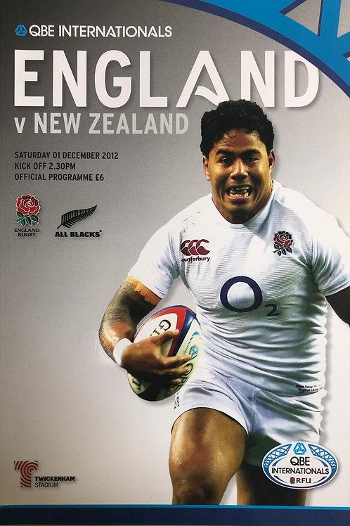 England v New Zealand 01.12.2012
