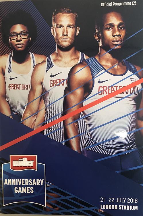 Muller Anniversary Games 2018
