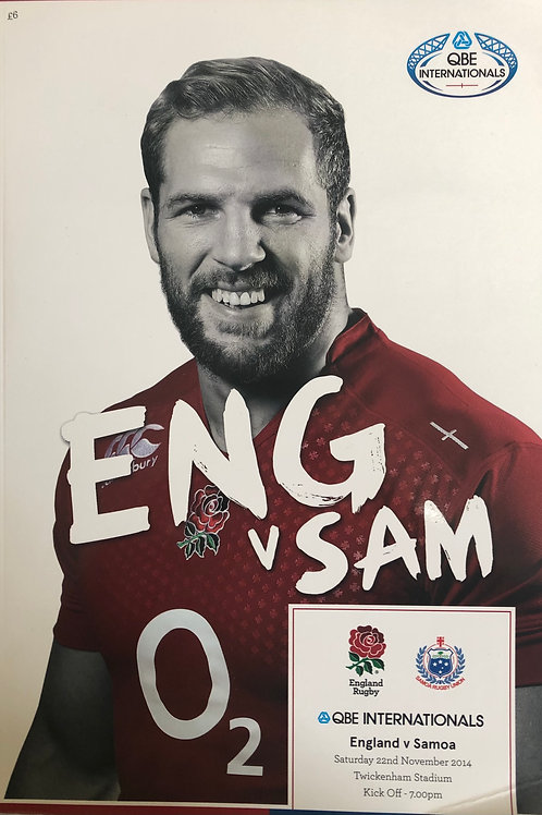 England v Samoa 22.11.2014