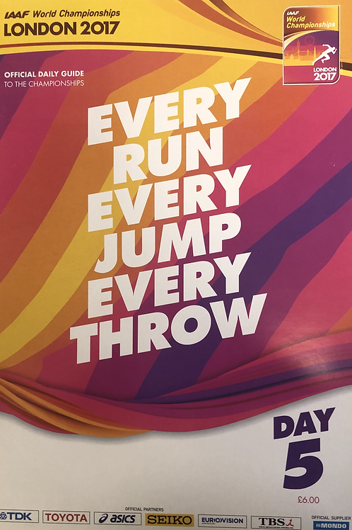 IAAF World Championships London 2017 Daily Guide