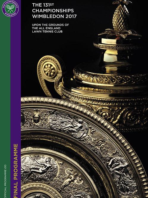 Wimbledon 2017 Official Final Programme