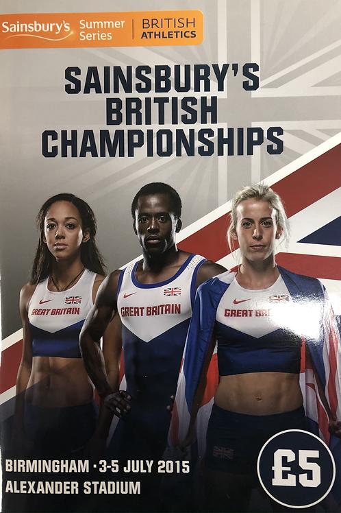 Sainsbury's British Championships 2015