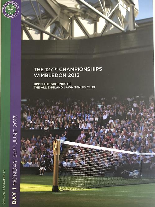 Wimbledon 2013 Day 1 Official Programme