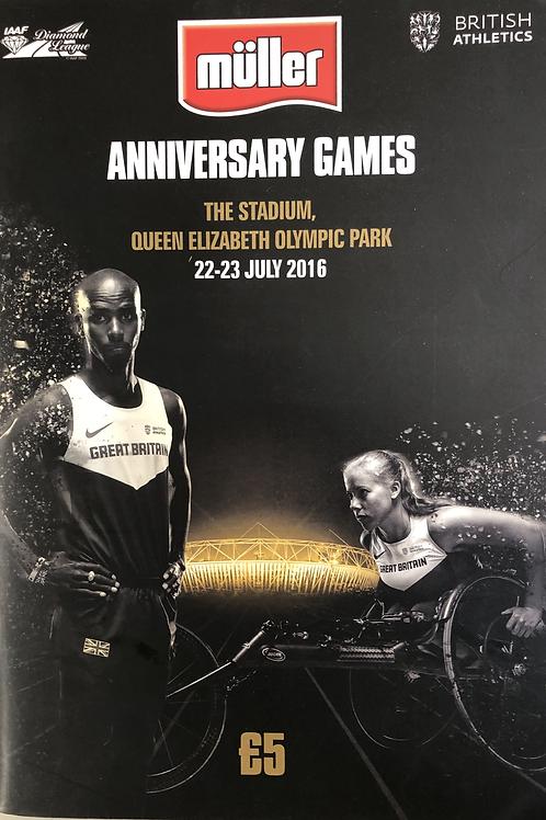 Muller Anniversary Games 2016
