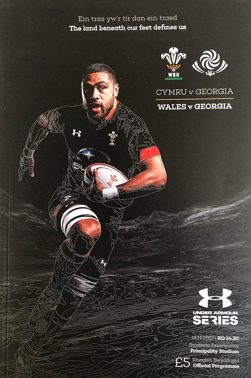 Wales v Georgia 18.11.2017