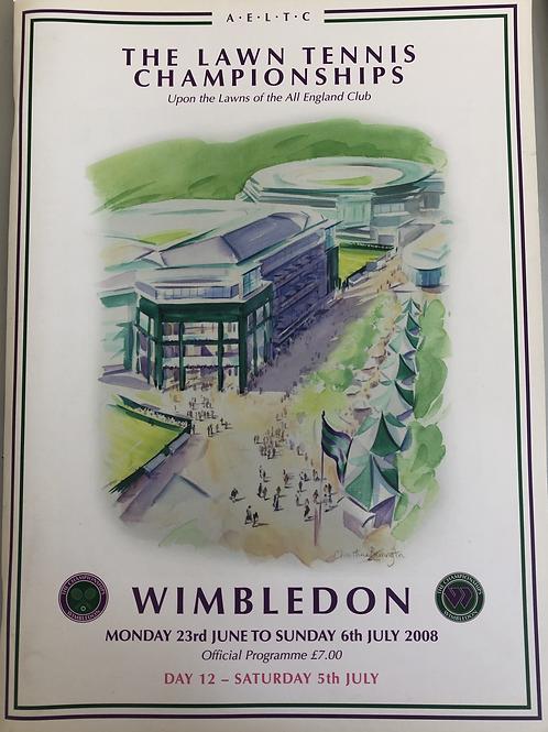 Wimbledon 2008 Day 12 Official Programme