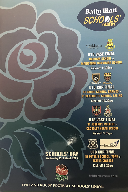 Daily Mail Schools Rugby 2005