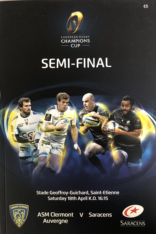 European Rugby Champions Cup Semi Final 2015