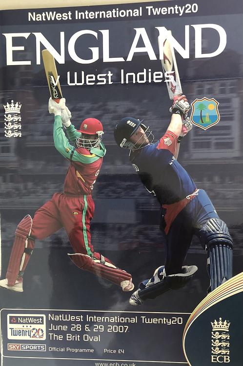 England v West Indies T20 2007