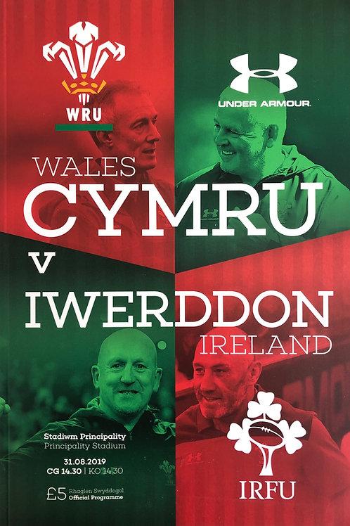 Wales v Ireland 31.08.2019