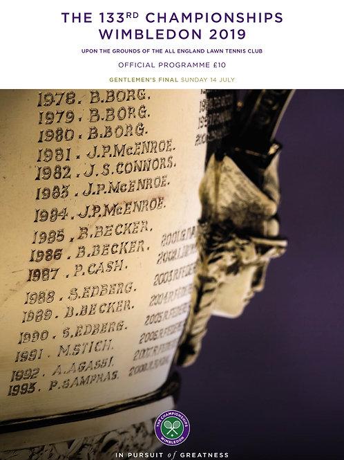 Wimbledon 2019 Gentlemen's Final -  Official Programme