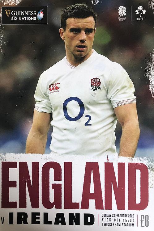England v Ireland 23.02.2020