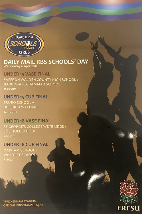 Daily Mail Schools Rugby 2011