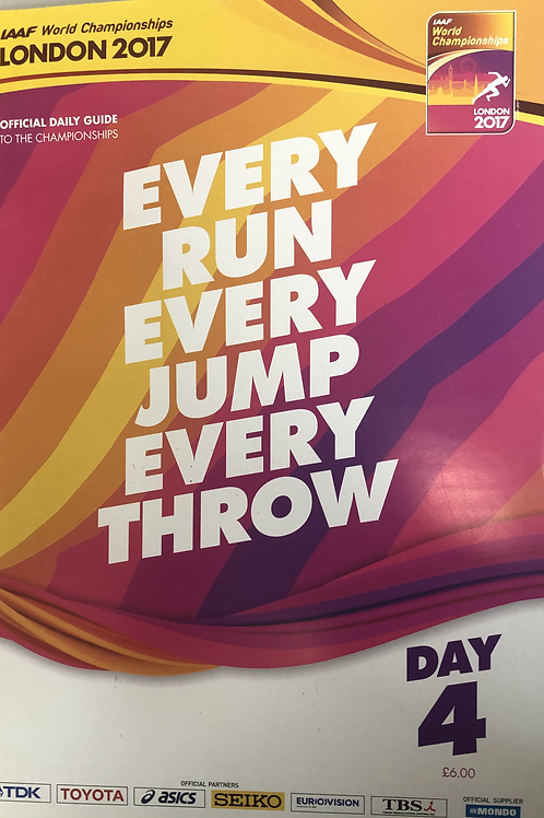 copy of IAAF World Championships London 2017 Daily Guide