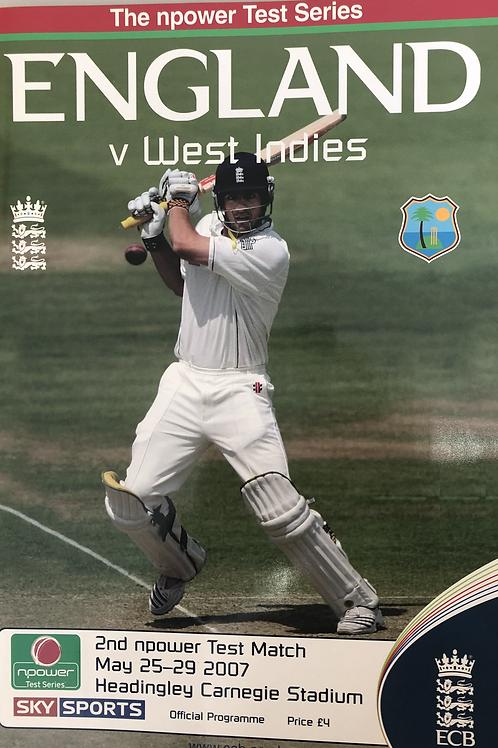 England v West Indies 2nd Test Match 2007