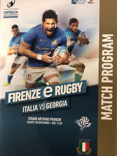 Italy v Georgia 10.11.2018