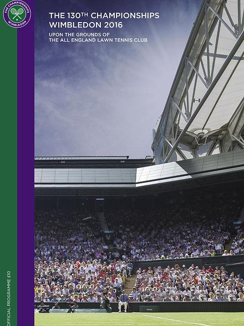 Wimbledon 2016 Day 7 Official Programme