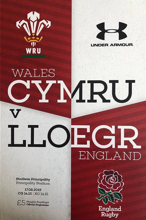 Wales v England 17.08.2019