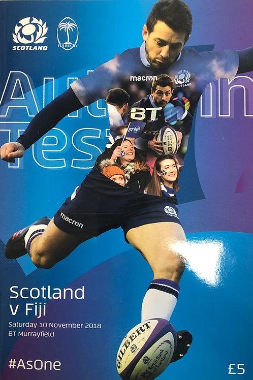 Scotland v Fiji 10.11.2018
